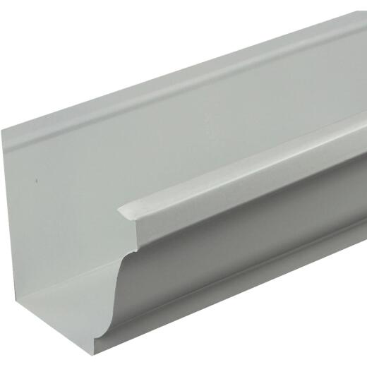 Spectra Metals 5 In. x 10 Ft. K-Style White High Tensile Aluminum Gutter