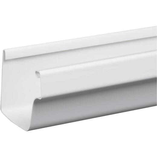 Amerimax 5 In. Traditional K-Style White Vinyl Gutter 10 Ft.