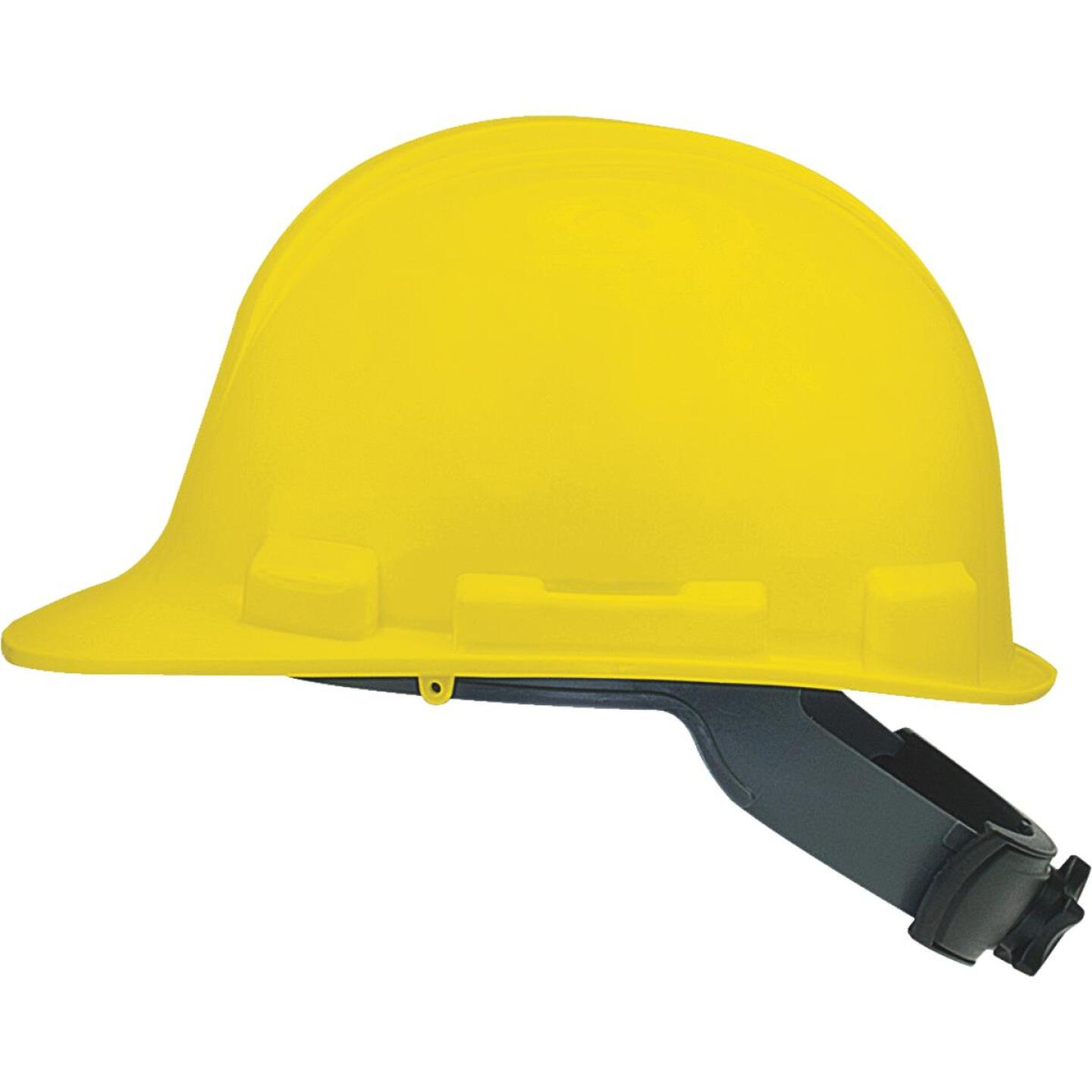 Safety Works Yellow Cap Style Wheel Ratchet Hard Hat Image 1