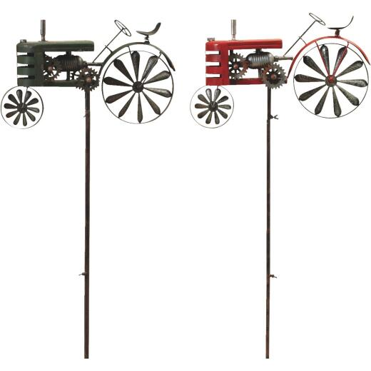 Gerson Spring GIL 63 In. H. Tractor Wind Spinner Lawn Ornament Stake